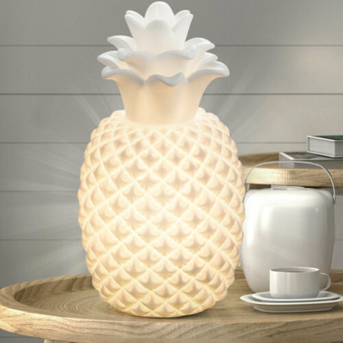 Luxus Tisch Beleuchtung Ananas Wohnraum Beistell Strahler Lese Leuchte weiß