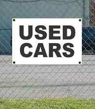 2x3 USED CARS Black & White Banner Sign NEW Discount Size & Price FREE SHIP