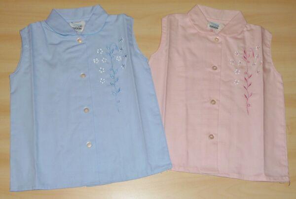 2 Paquete De Vintage 1970s Niñas Rosa Y Azul Floral Bordado Blusas De 4-5 A 6-7-ver Para Prevenir Y Curar Enfermedades