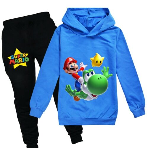 Pants 2019 New Super Mario Boys/' Spring and Autumn Long Sleeve Hoodies