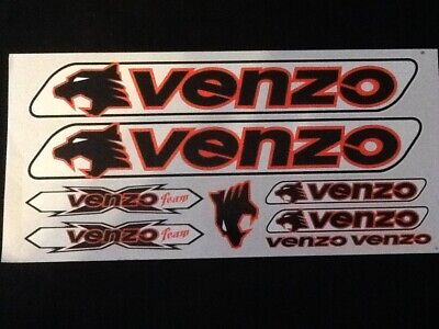 Orange /& White. Venzo Stickers  Set  Black
