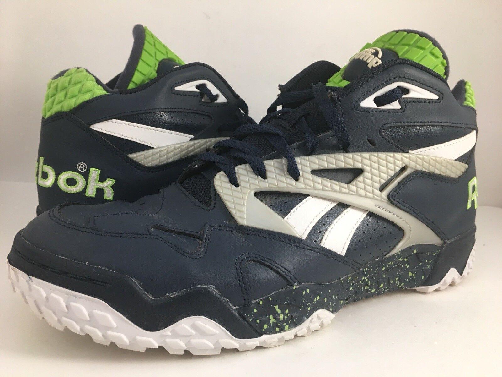 Reebok the Pump  Sneakers Mens 11.5 046501 1013 Retro bluee White Green