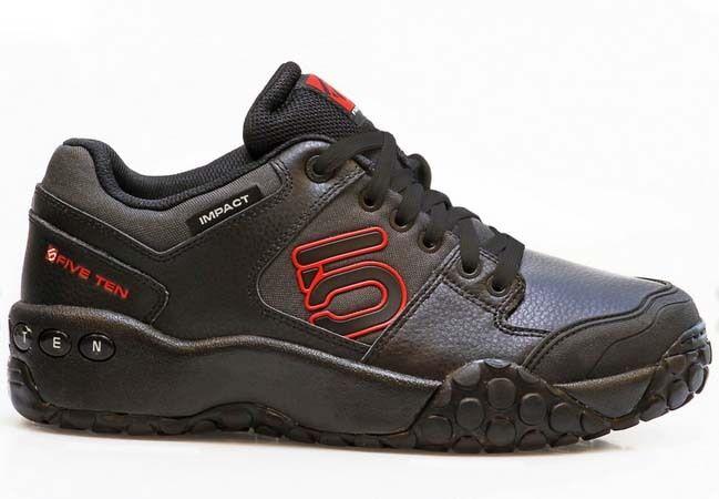 Five ten impacto bajo Zapatos plana Bicicleta de Montaña Bici plana Zapatos Pedal ciclo 510 Fiveten Negro Rojo Uk 7.5 40352f