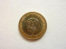 MACEDONIA coin 1 DENAR 2000 KM#9, UNC, Cross, CHRISTIANITY, Byzantine Follis