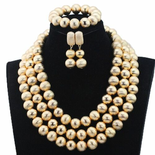 Dubai Gold Women Bridal Déclaration Collier africaine Nigerian Wedding Jewelry Set