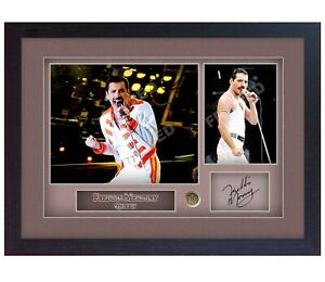Freddie-Mercury-Queen-signed-autograph-Music-photo-FRAMED-print
