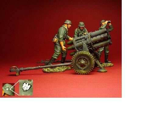 ENSEMBLE NEBELWERFER - Figurines peintes PATRIOT MODELS 1 30 - Ref. W2SET3