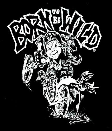 Kids Motorcycle Bike Clothing Born To Be Wild T-Shirt