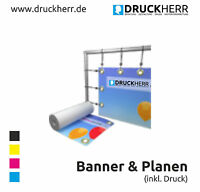 NEU WERBEPLANE WERBEBANNER BANNER PVC-PLANE WERBEPLAKAT POSTER MIT DRUCK + ÖSEN