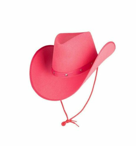 Adult WHITE COWGIRL HAT Western Line Dancing Hen Party Cowboy Texas Dolly Party