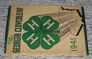 1941-College-4-H-CLUB-Yearbook-Georgia-Cloverleaf-UG