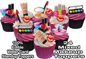 Image Is Loading Makeup Lipsick Eyeshadow Lips 24 X Standup Edible
