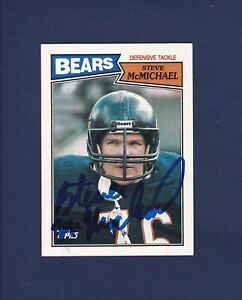 11c9287dbda Image is loading Steve-McMichael-signed-Chicago-Bears-1987-Topps-football-