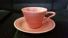 Vintage Harlequin Fiesta cup and saucer Rose