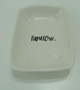 Rae Dunn FABULOUS soap dish holder trinket tray Magenta Artisan Collection NEW