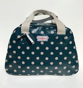 Cath Kidston Dark Turquoise Teal Overnight Bag Button Spot New with ... c79256254daa1