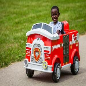 Details About Ride On Toy 6v Paw Patrol Marshall Fire Truck Children Riding Kids Play Outdoor