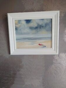 Oil Painting Beach Seascape Signed