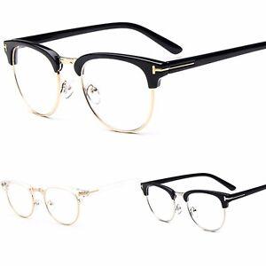 tienda de liquidación a2dde 7d087 Detalles de Unisex Marco Montura Media Moda Gafas Lentes Transparentes
