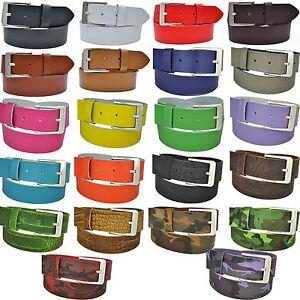 22-Farben-amp-12-Laengen-Waehlbar-4cm-Echt-Leder-Guertel-mit-Nickel-Free-Scshnalle