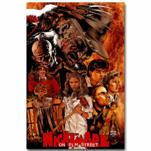 Art Print poster fabric A Nightmare on Elm Street Horror Movie Character 24x36