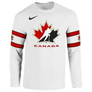 Team Canada Nike Jersey Style Cotton White T Shirt (New) Calgary Alberta Preview