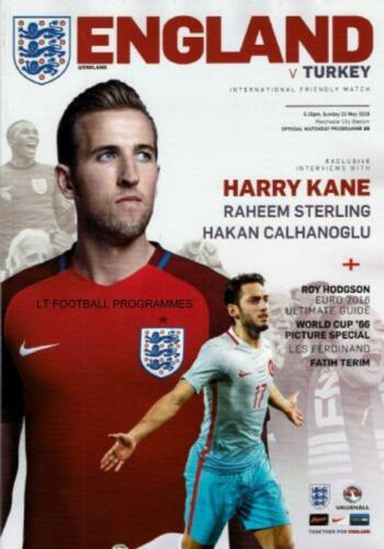 2016 ENGLAND v TURKEY INTERNATIONAL FRIENDLY MAN CITY 22nd May 2016