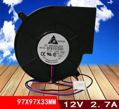 1pc DELTA BFB1012VH fan 9733 12V 2.7A 3pin
