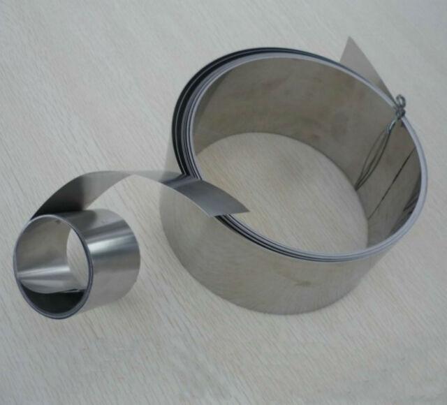 1pcs 304 Stainless Steel Fine Plate Sheet Foil 0.08mm x 100mm x 500mm #E6-55