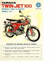 1967 Yamaha Twin Jet 100cc YL-1   motorcycle sales brochure, (Reprint) $7.50
