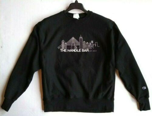 The Handle Bar sweatshirt large black CHAMPION REV