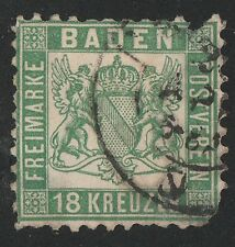 KAPPYSSTAMPS KS3459 GERMANY BADEN SCOTT# 24 USED  RETAIL $600 THIS IS A SECOND!