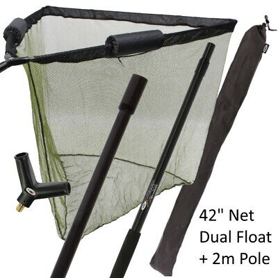 2 Flot42in New Carp Landing NGT Net With Metel Block And Unhooking Mat And Sling