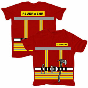 Kinder Pullover Uniform FEUERWEHRMANN Feuerwehr fasching geschenk freiwillige