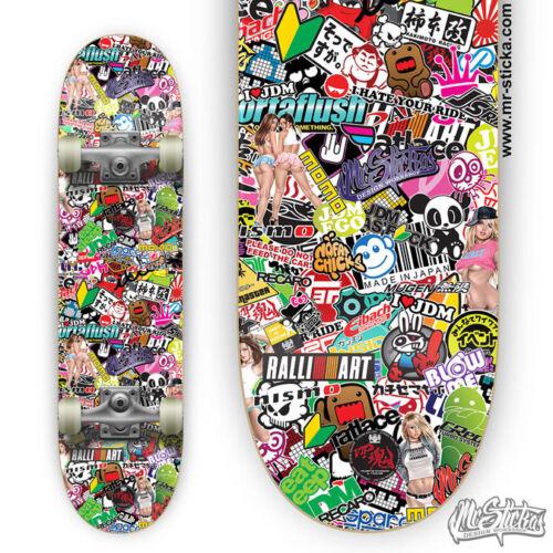 200 Skateboard Stickers bomb Vinyl Laptop Luggage Decals Dope Sticker Lot super
