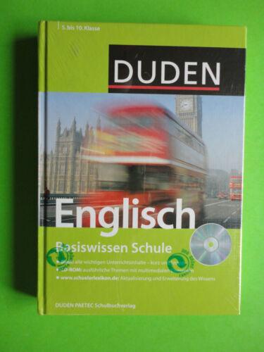 1 von 1 - Duden Englisch Basiswissen Schule Sekundarstufe I alle Schulformen + CD Rom NEU