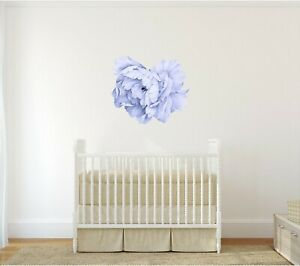 Details About Blue Peony 13 Removable Wall Decal Fl Nursery Decor Flower Sticker