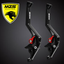 MZS CNC Brake Clutch Levers For Yamaha YZF R6 2005-2013 YZF R1 2004-2008 Black
