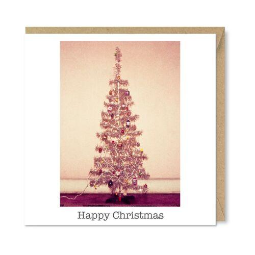Unique Vintage Retro Christmas Card Stunning Tree Nostalgia 1980/'s 1970/'s