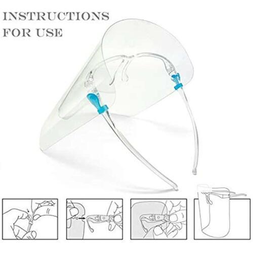 Full Face Shield Couverture Anti Brouillard écran Transparent HD Clair Visière 5-20PCS