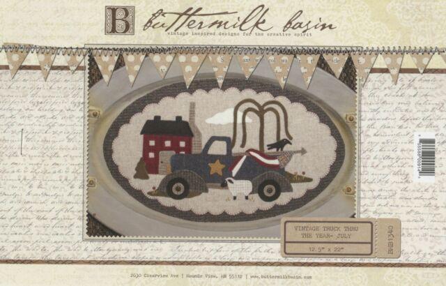 **SET** Vintage Truck thru the Year Wool Applique Patterns Buttermilk Basin
