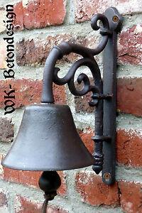 1 t rglocke glocke tor t r haust r eisen antik nostalgie bell landhausstil 0037 ebay. Black Bedroom Furniture Sets. Home Design Ideas