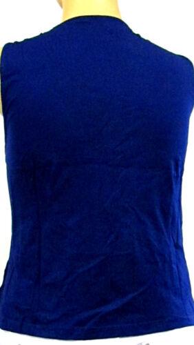 NEU offene Damen Shirt Zipfel Weste  blau taillenlang Große Über 48 50 52 54 56