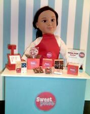 """SWEET PETE'S CANDY SHOP PLAY SET FOR 18"""" DOLLS MY LIFE & AMERICAN GIRL"""