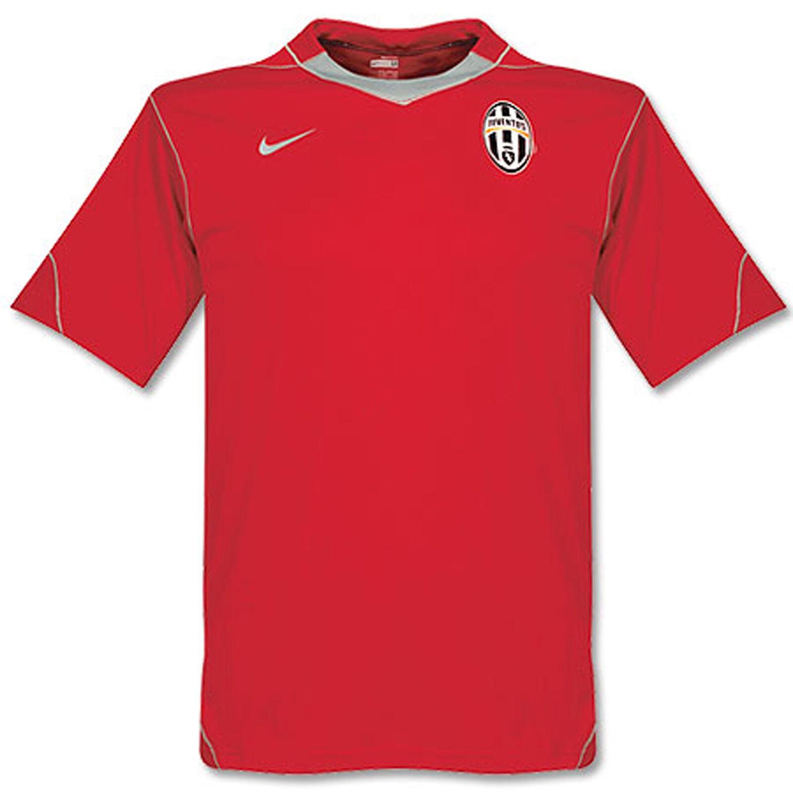 Nuova Nike Juventus Football Allenamento Pre Partita Maglietta ROSSO L