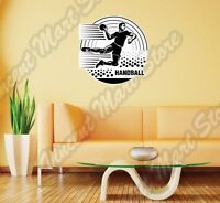 Team Handball Throwing Ball Olympic Sport Wall Sticker Interior Decor 22x22