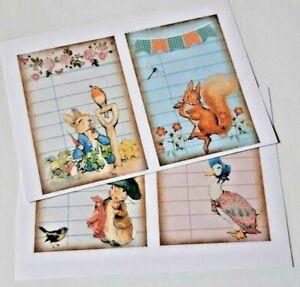 8-24 large Peter Rabbit UNCUT SCRAPBOOKING CRAFT CARDMAKING EMBELLISHMENTS 3