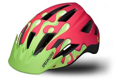 Specialized Shuffle LED SB Bicycle Helmet Size Youth Pnk Grn MIPS CPSC Charity!
