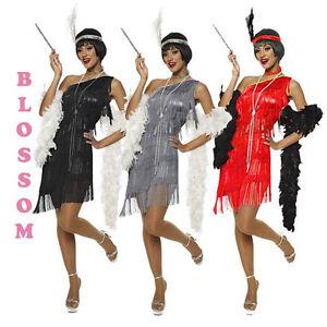 F87-1920s-Charleston-Grey-Flapper-Fancy-Dress-Costume-Feather-Boa-Headband
