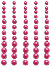 Queen & Co PEARLS-ORCHID 60 Pcs 3 Sizes Self-Adhesive ART Scrapbooking